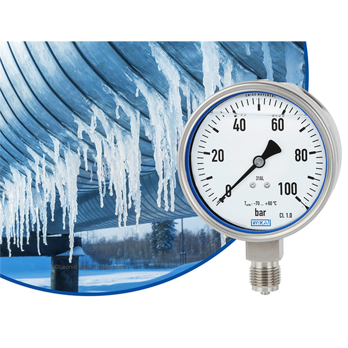 New pressure gauge withstands extreme cold down to -70 °C