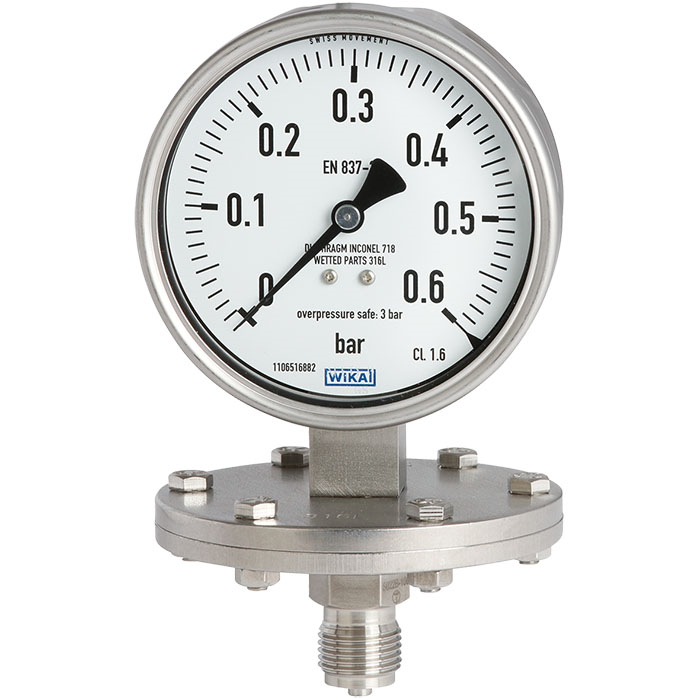 Diaphragm pressure gauge - 432.50, 433.50 - WIKA Australia