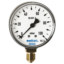Capsule pressure gauge, copper alloy